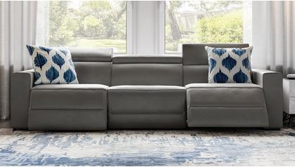 Mirage Reclining Sofa - Slate