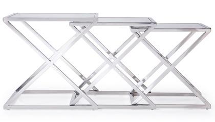 Zafiro Nesting Side Tables - Clear