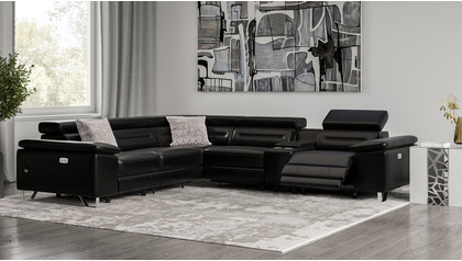Monaco Reclining L Sectional with Console