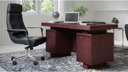 Monroe Desk - Mahogany