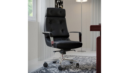 Perot Leather Executive Chair-Black