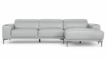 Rousso Sectional - Silver Gray