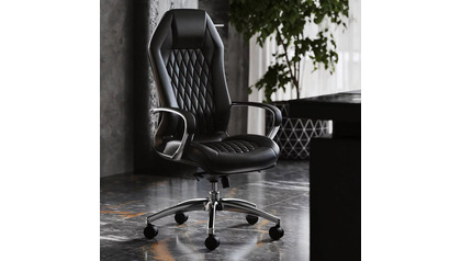 Sterling Leather Executive Chair - Black