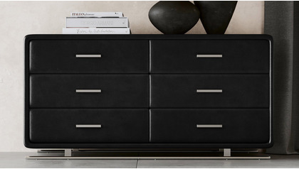 Vetro Accent Chest - Black