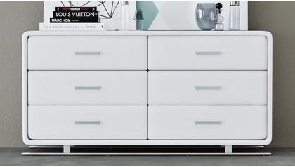 Vetro Accent Chest - White