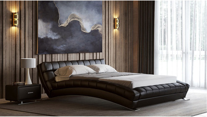Adonis Leather Bed