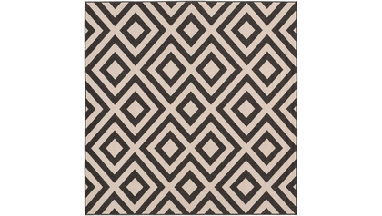 Alfresco Square Rug - Black/Cream