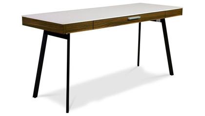 Alston Desk White/Walnut