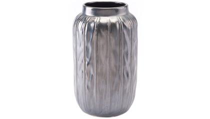 Antique Metallic Gray Small Vase