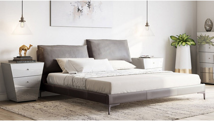 Apollo Leather Bed