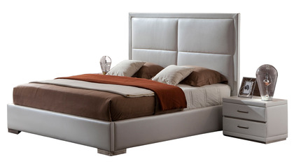 Aries Leather Bed