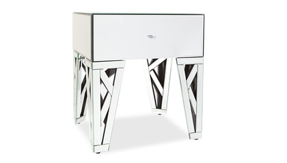 Azure Mirrored Accent Table