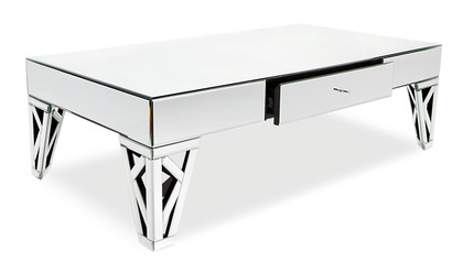 "Azure Mirrored 52"" Coffee Table"