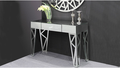 Azure Mirrored Console Table