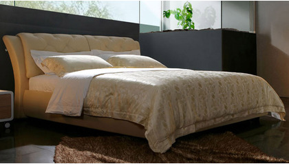 Bella Leather Bed