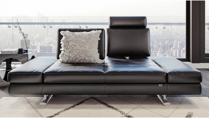 Bentley Leather Loveseat with Headrest