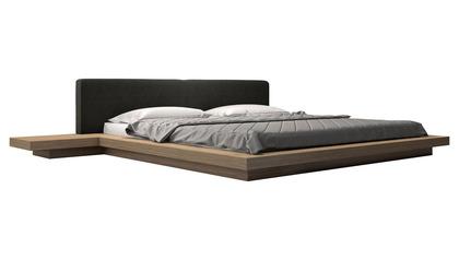 Worth Bed - Carbon Fabric on Walnut