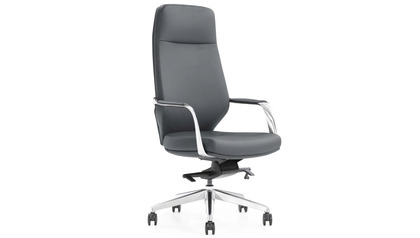 Cardone Leather Executive Chair - Dark Grey