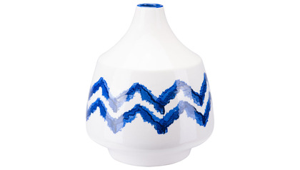 Chevron Bottle Large Cobalt