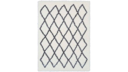 Cloudy Small Diamond Shag Rug