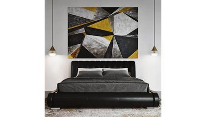 """Concrete Deco Canvas Art - 96"""" x 70"""""""