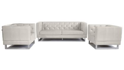 Zeta Sofa Set with 2 Armchairs - Beige