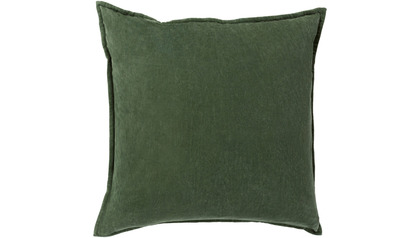 Velvet Square Throw Pillow with Down Insert