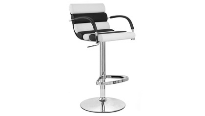 Black and White Ego Bar Stool
