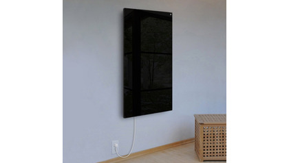 Ember Glass Black Radiant Heating Panel