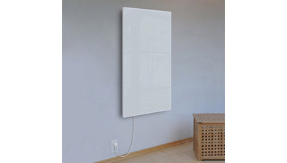 Ember Glass White Radiant Heating Panel