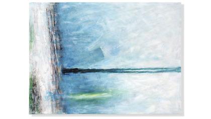 "Ethereal Sleet Canvas Art - 96"" x 70"""