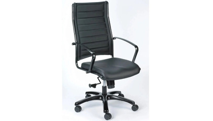 Europa Metallic Leather High Back Swivel Chair
