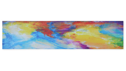 "Festival of Light I Canvas Art - 60"" x 14"""