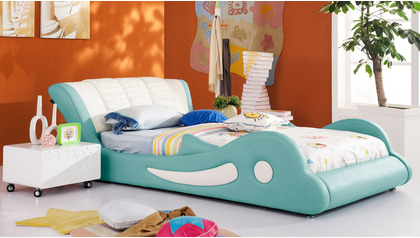 Flipper Leather Kids Bed