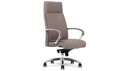 Forbes Leather Executive Chair - Light Grey