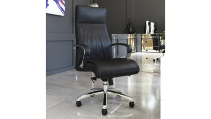 Forbes Leather Executive Chair-Black