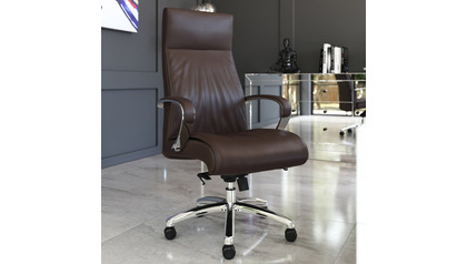 Forbes Leather Executive Chair - Dark Brown