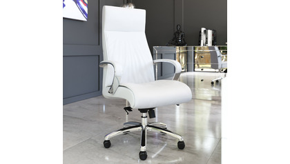 Forbes Leather Executive Chair-White