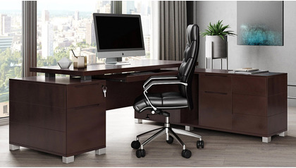 Ford Desk with Return - Dark