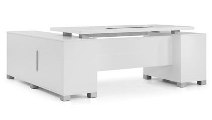 Ford Desk with Return - White