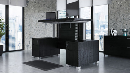 Ford Adjustable Height Desk - Black