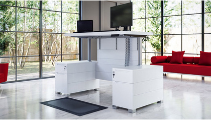 Ford Adjustable Height Desk - White