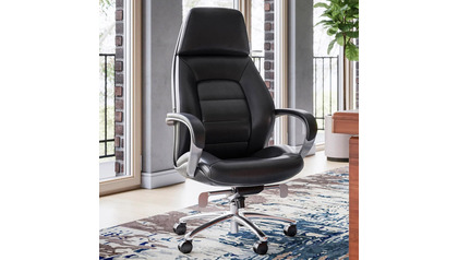 Gates Leather Executive Chair-Black