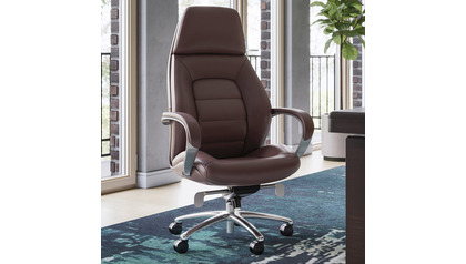 Gates Leather Executive Chair-Dark Brown