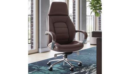 Gates Leather Executive Chair-Dark Brown