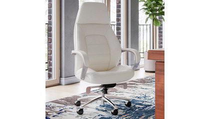 Gates Leather Executive Chair-Cream