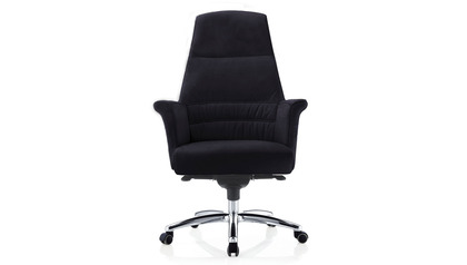Geffen Leather HighBack Executive Chair-Black
