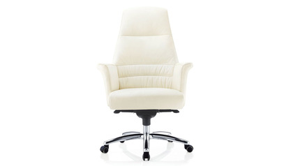 Geffen Leather HighBack Executive Chair-Cream