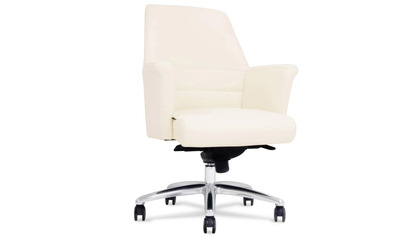 Geffen Leather Executive Chair - Cream