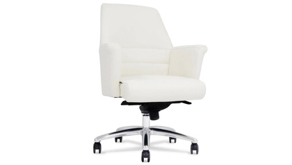 Geffen Leather Executive Chair-White